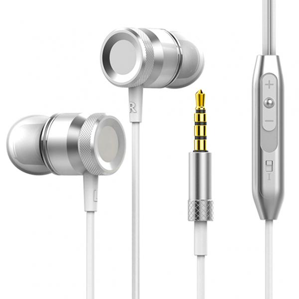 Silver Super Bass headphones